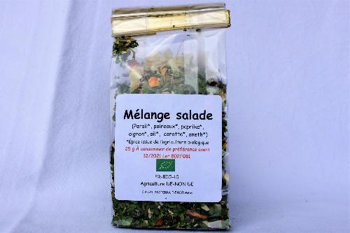 Mélange pour salade (Oignon, basilic, persil, ciboulette) 50g