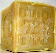 Véritable savon de Marseille blanc Le Sérail  cube 600g (Sans huile de palme)