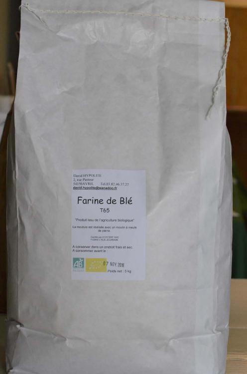 Farine de blé  blanche T 65 (pâtisserie) 5kg