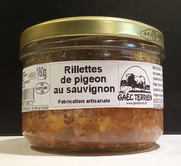 Rillettes de pigeon au Sauvignon