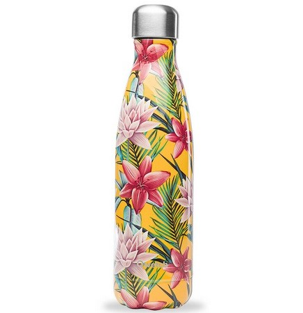 Bouteille Isotherme 500ml Tropical Jaune