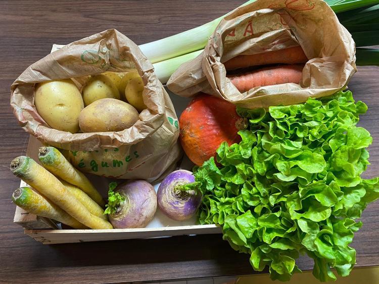 Panier de légumes de la semaine