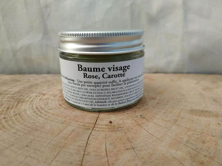 Baume Visage, Rose et Carotte 30gr