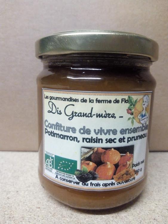 Confiture de potimarron raisins secs et pruneaux