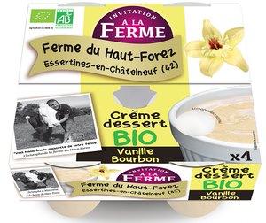 Crème dessert vanille - pot de 4 -