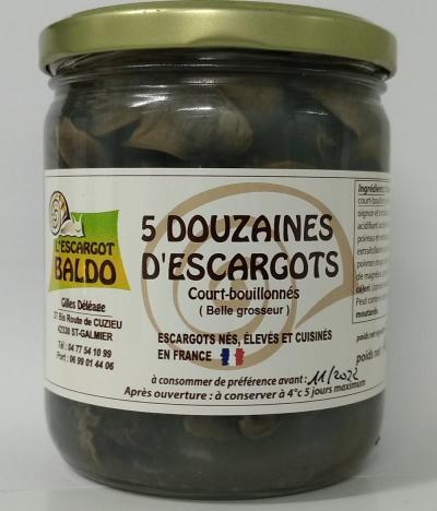 5 douzaines escargots