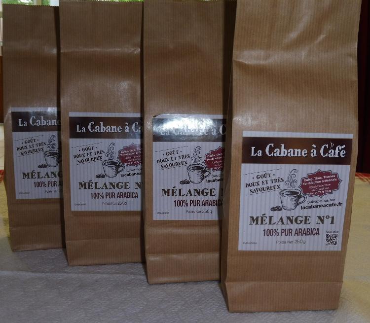 Mélange N°1 -  4 variétés café  moulu  - 250gr