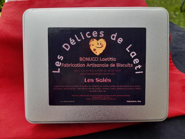 """Coffret biscuits artisanaux """"Les Salés"""" - 450gr"""