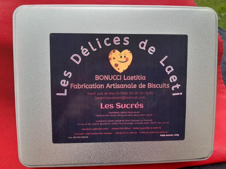 """Coffret biscuits artisanaux  """"Les Sucrés""""  - 450gr"""