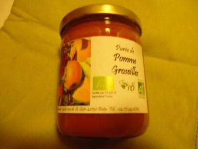 Purée POMME GROSEILLE - 430gr