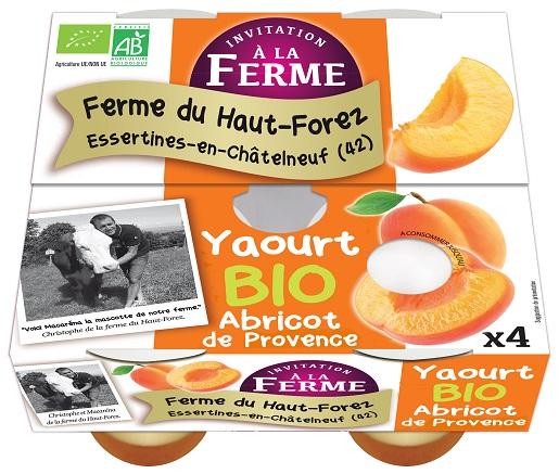 Brassé sur lit d'abricots de la Drôme - lot de 4