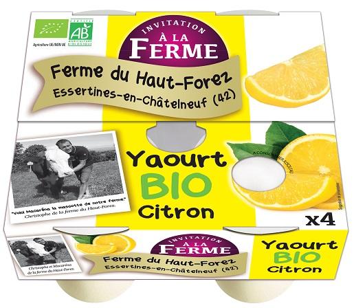 Yaourt au citron - lot de 4