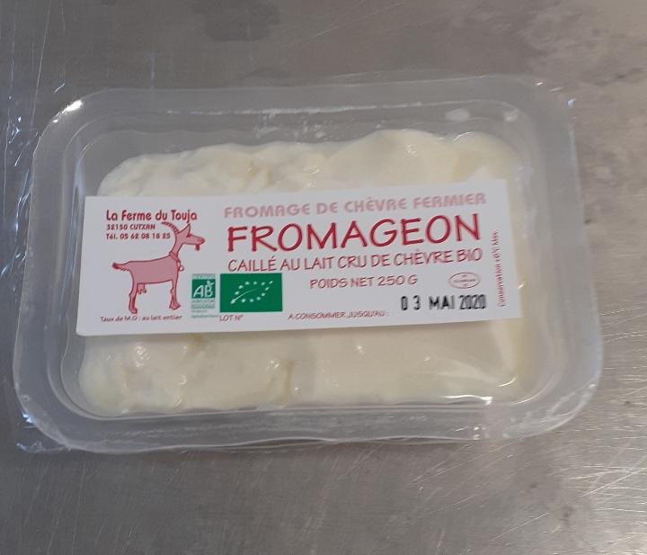 Fromageon caillé au lait cru de chèvre