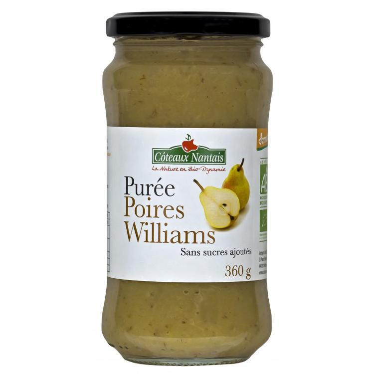 Purée Poire Williams sans sucre ajouté 360 g