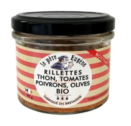 Rillette Thon tomates poivrons et olives 100GR