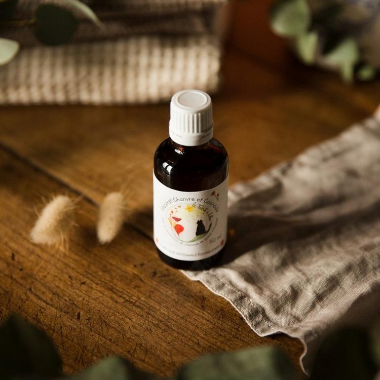Macérat de calendula dans huile de chanvre