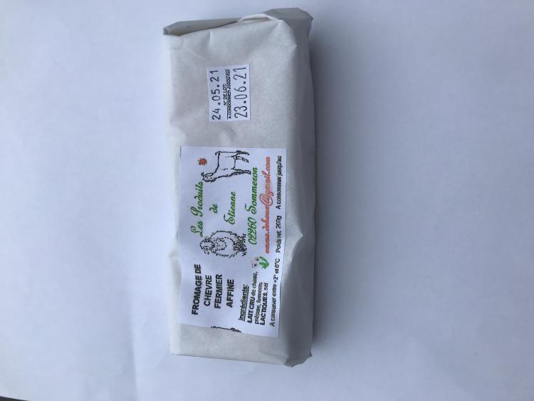 Brique de chèvre mi-affinée ou affinée - 200 g