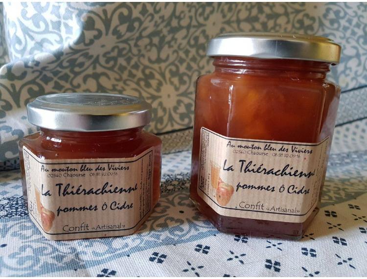 Confit La Thiérachienne (Pommes ô cidre) 220g