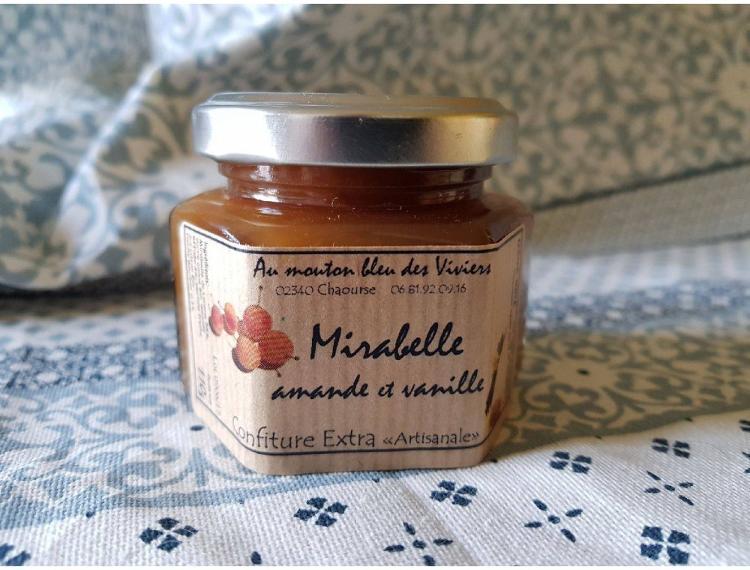 Confiture Mirabelle amande et vanille 220g