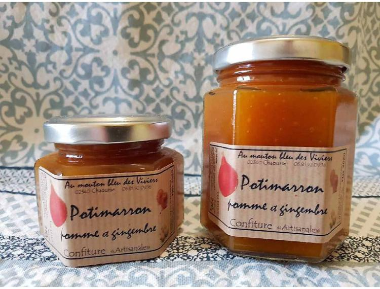Confiture Potimarron/gingembre 50g