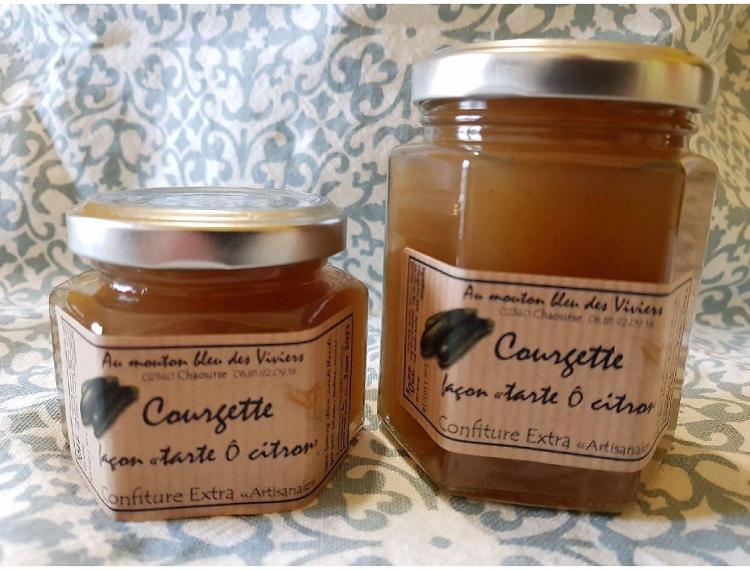 """Confiture Courgette façon """"tarte ô citron"""" 110g"""