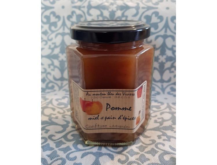 Confiture Pomme, pain d'épices et miel 50g