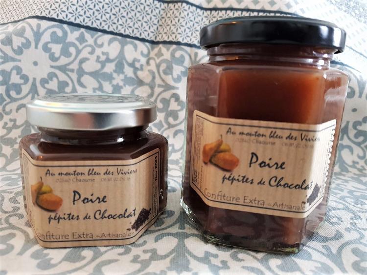 Confiture Poire/ pépites de chocolat 110g