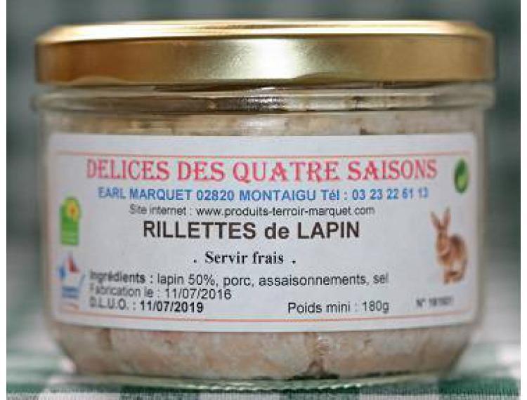 Rillettes de lapin 180 g