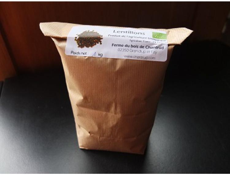 Lentillons BIO de la Ferme du bois de Chantrud - 1 kg