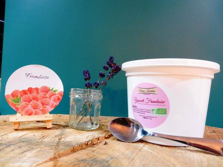 yaourt aromatisé à la framboise bio POT 500G