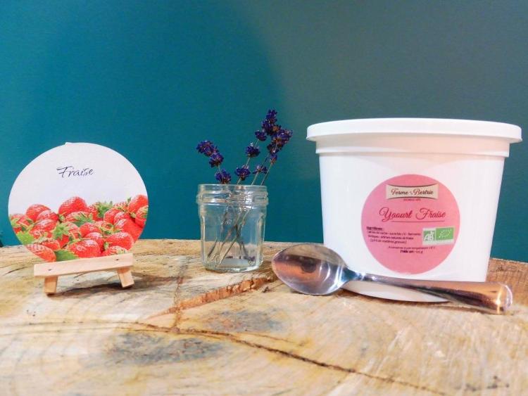 yaourt aromatisé à la fraise bio POT 500G