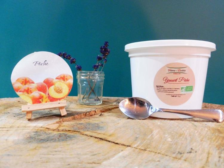 yaourt aromatisé à la pêche bio POT 500G