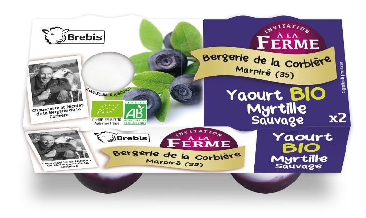Yaourt Bio à la myrtille sauvage au lait de Brebis 2x125g