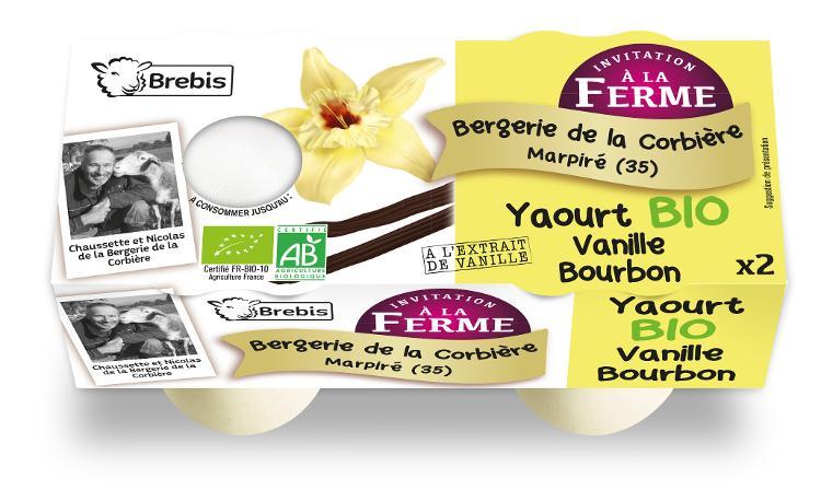 Yaourt Bio à la vanille Bourbon au lait de brebis 2x125g