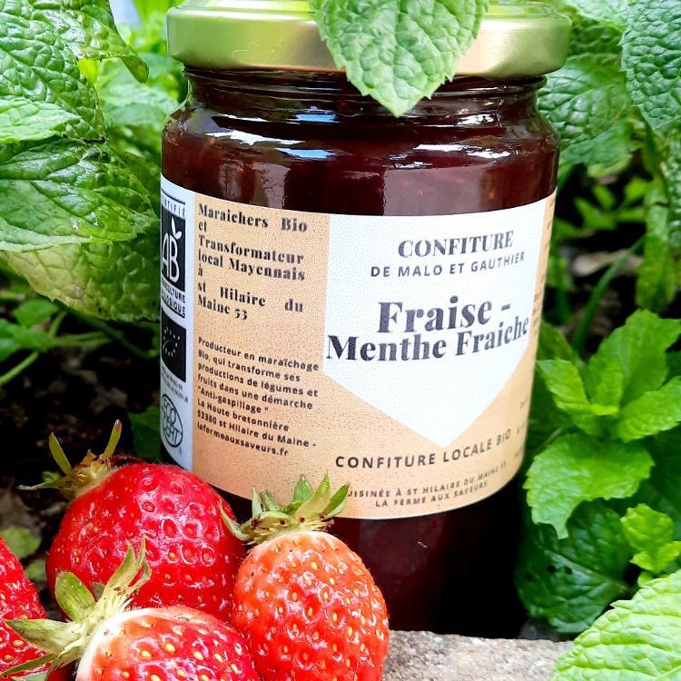 Confiture Fraises Menthe Fraîche 350g