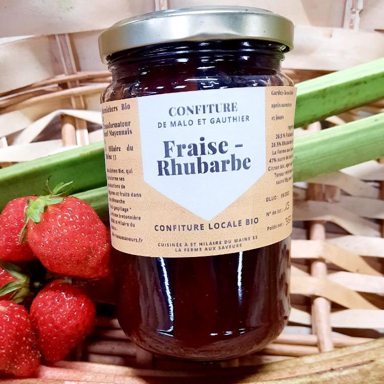 Confiture Fraises Rhubarbe 350g
