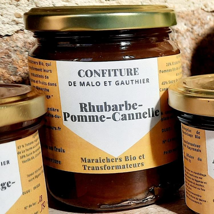 Confiture Rhubarbe Pomme Cannelle 300 g