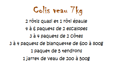 COLIS DE VEAU 7KG