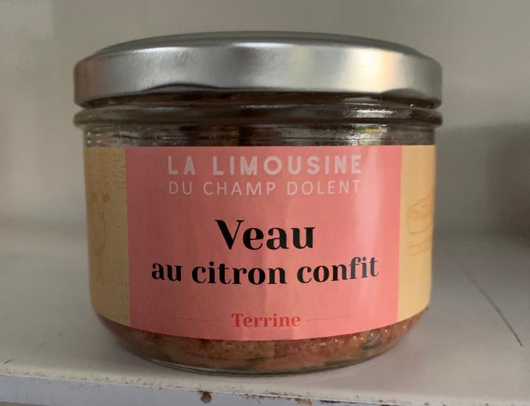 TERRINE DE VEAU AU CITRON CONFIT