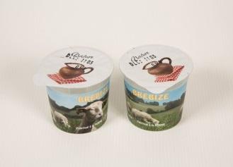 8 yaourts natures au lait de brebis 1/2 écrémé