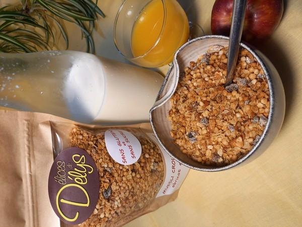 muesli croustillant ABRICOT / AMANDE sans gluten