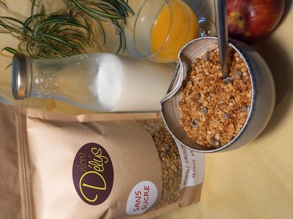 muesli croustillant ABRICOT / AMANDE sans sucre