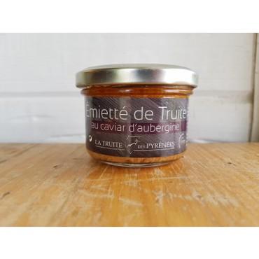 Emietté de truite au caviar d'aubergine 90g