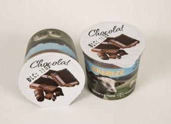 2 crèmes dessert chocolat au lait de brebis