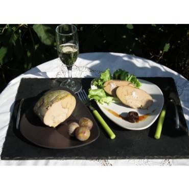 "Foie gras mi cuit de canard gras de ""barbarie"". Portion de 250g"