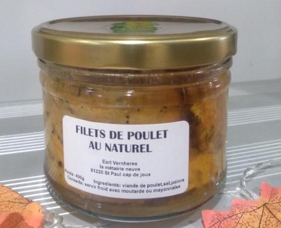 Filet de Poulet au naturel - 400 g