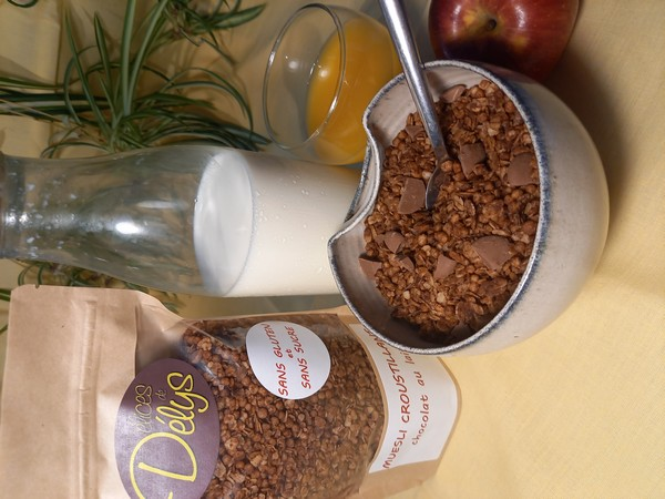 muesli croustillant CHOCOLAT LAIT sans gluten