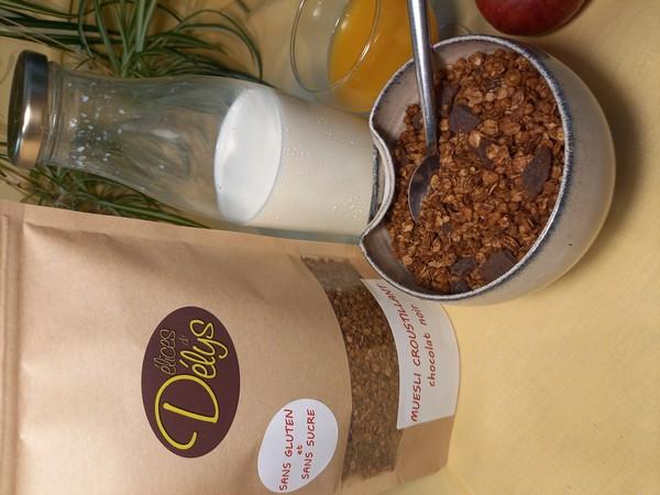 muesli croustillant CHOCOLAT NOIR sans gluten