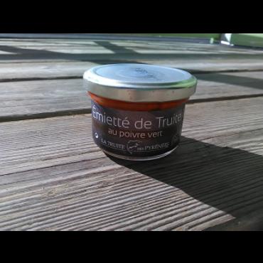 Emietté de truite au poivre vert 90g