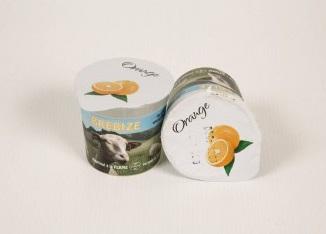 2 yaourts de Brebis aux huiles essentielles d'orange